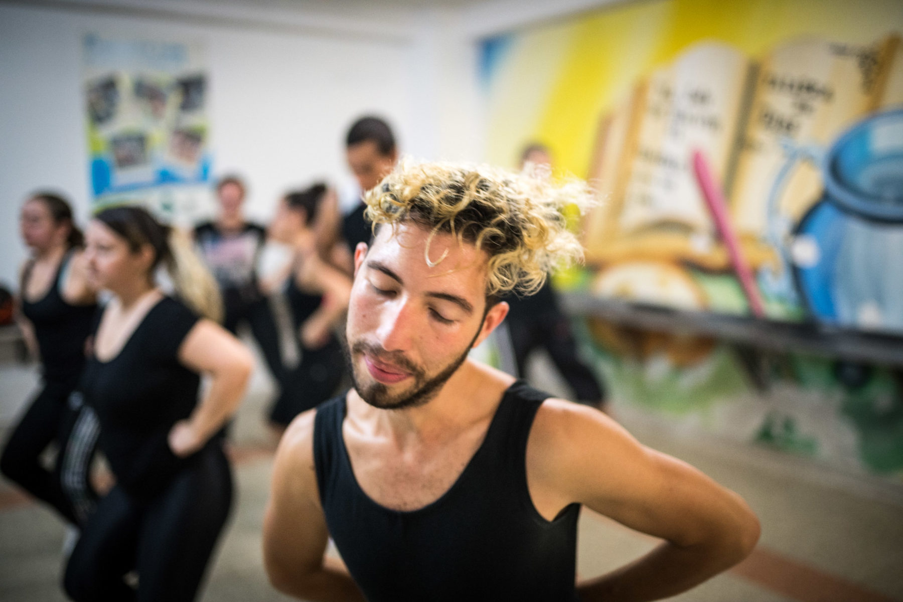 Dancing is everything for Victor. He is part of a Colombian folklore group rehearsing traditional dances from the highlands.